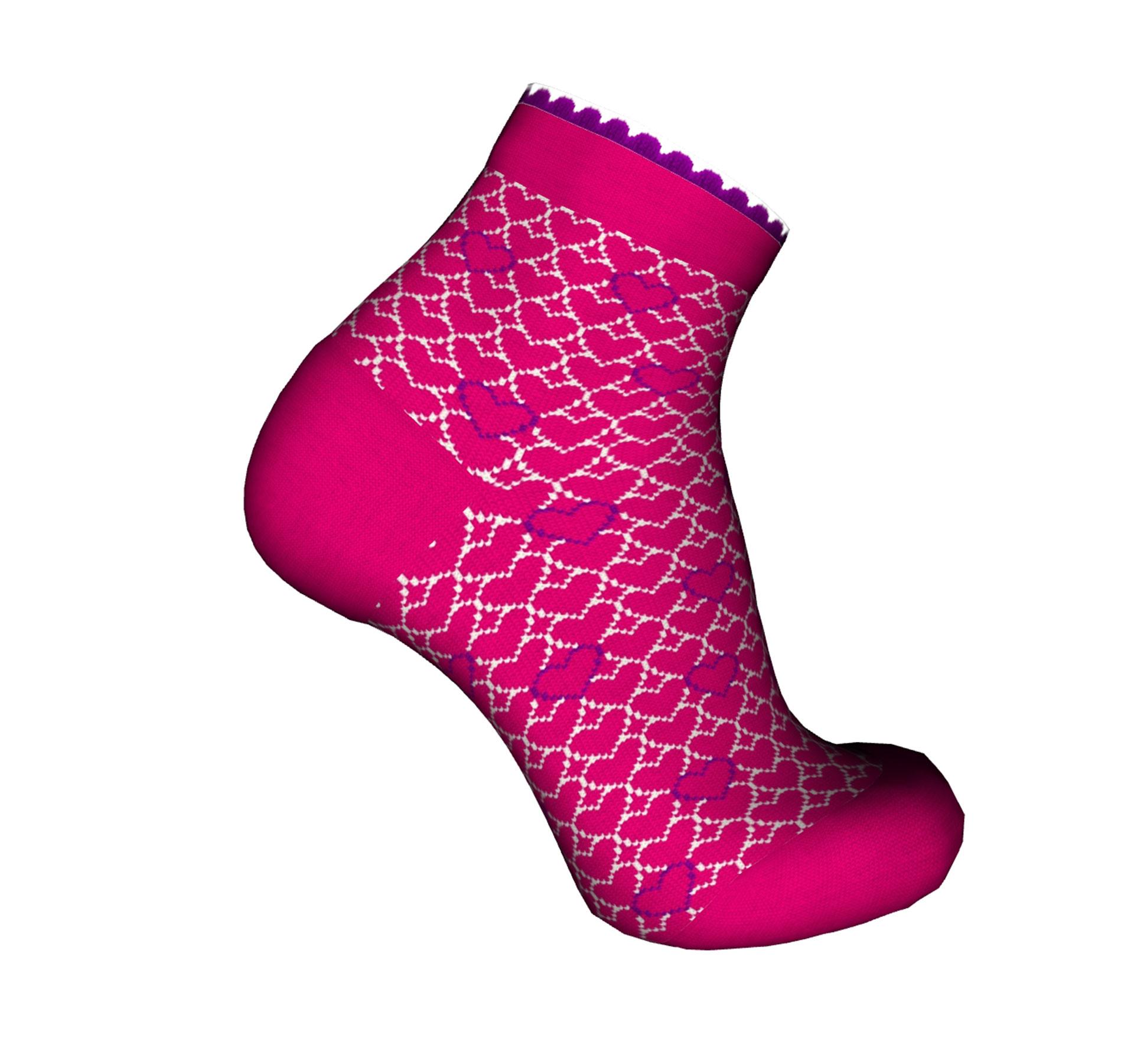 calza da bambina rosa