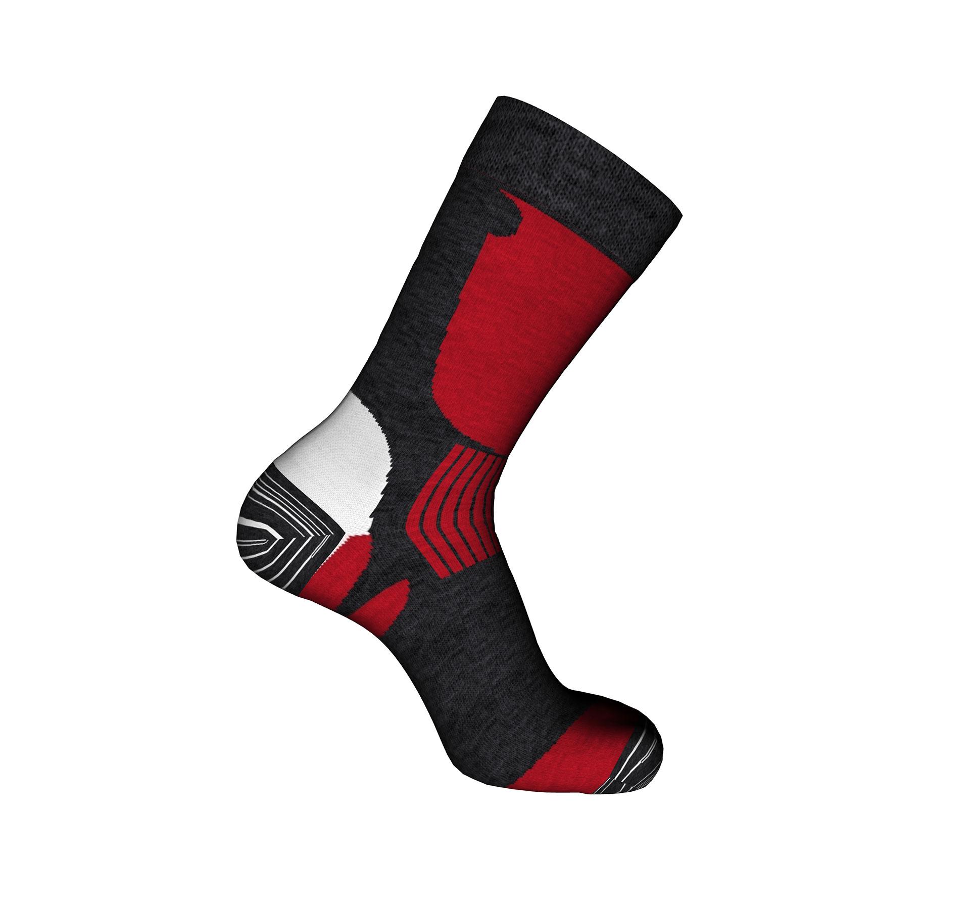 vendita calze sportive da trekking rosse