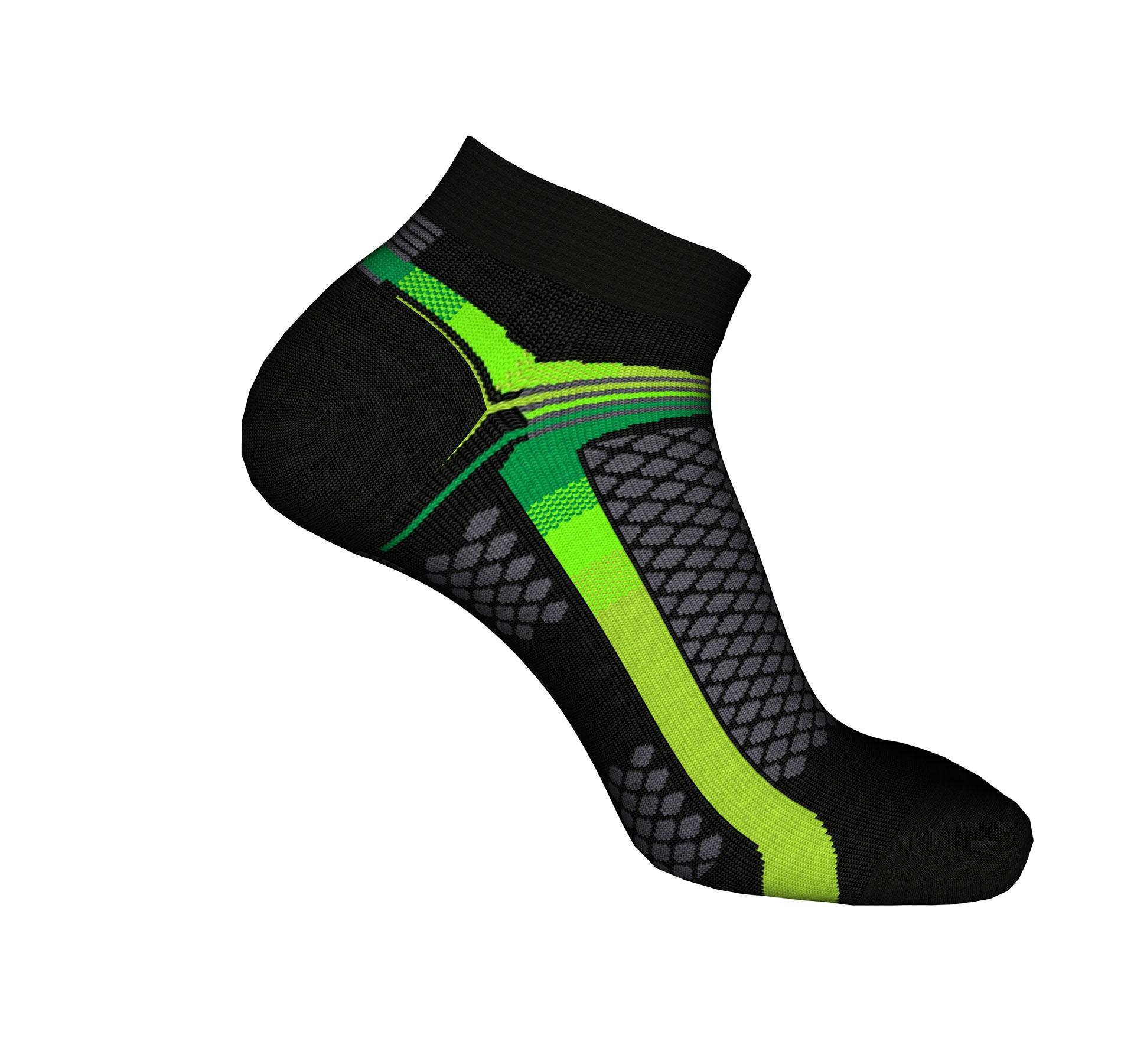 vendita calze sportive running gialle