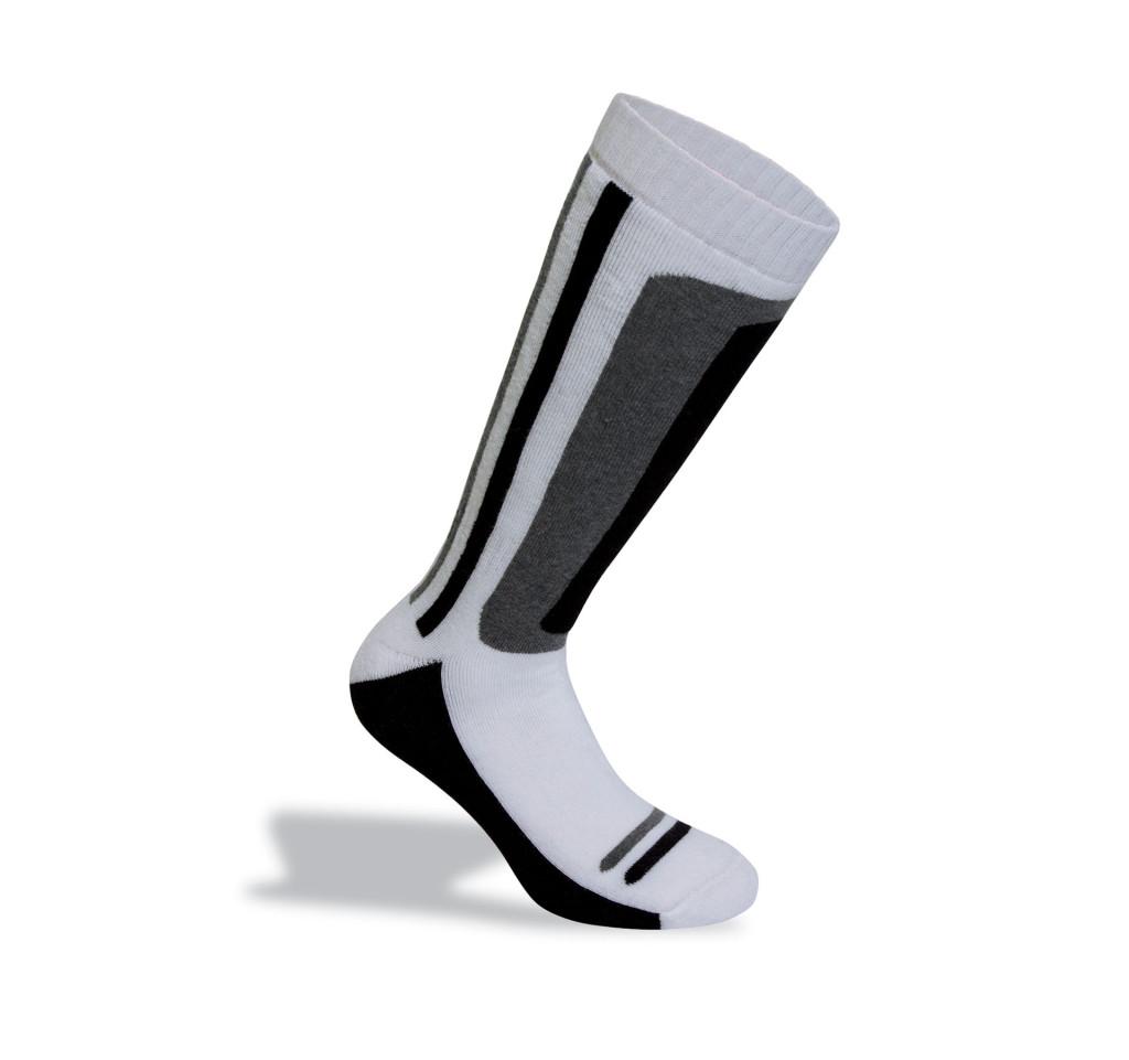 calza da sci bianche