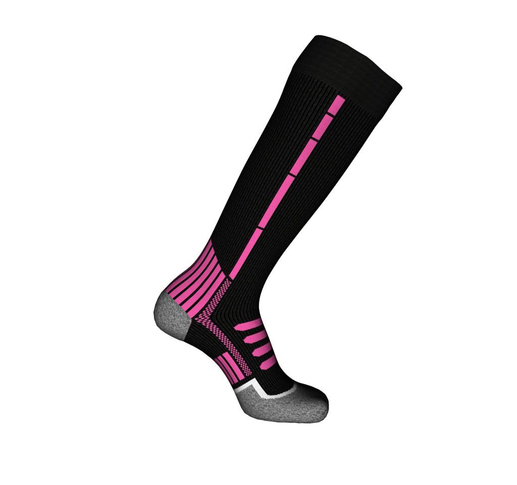 calze da sci rosa