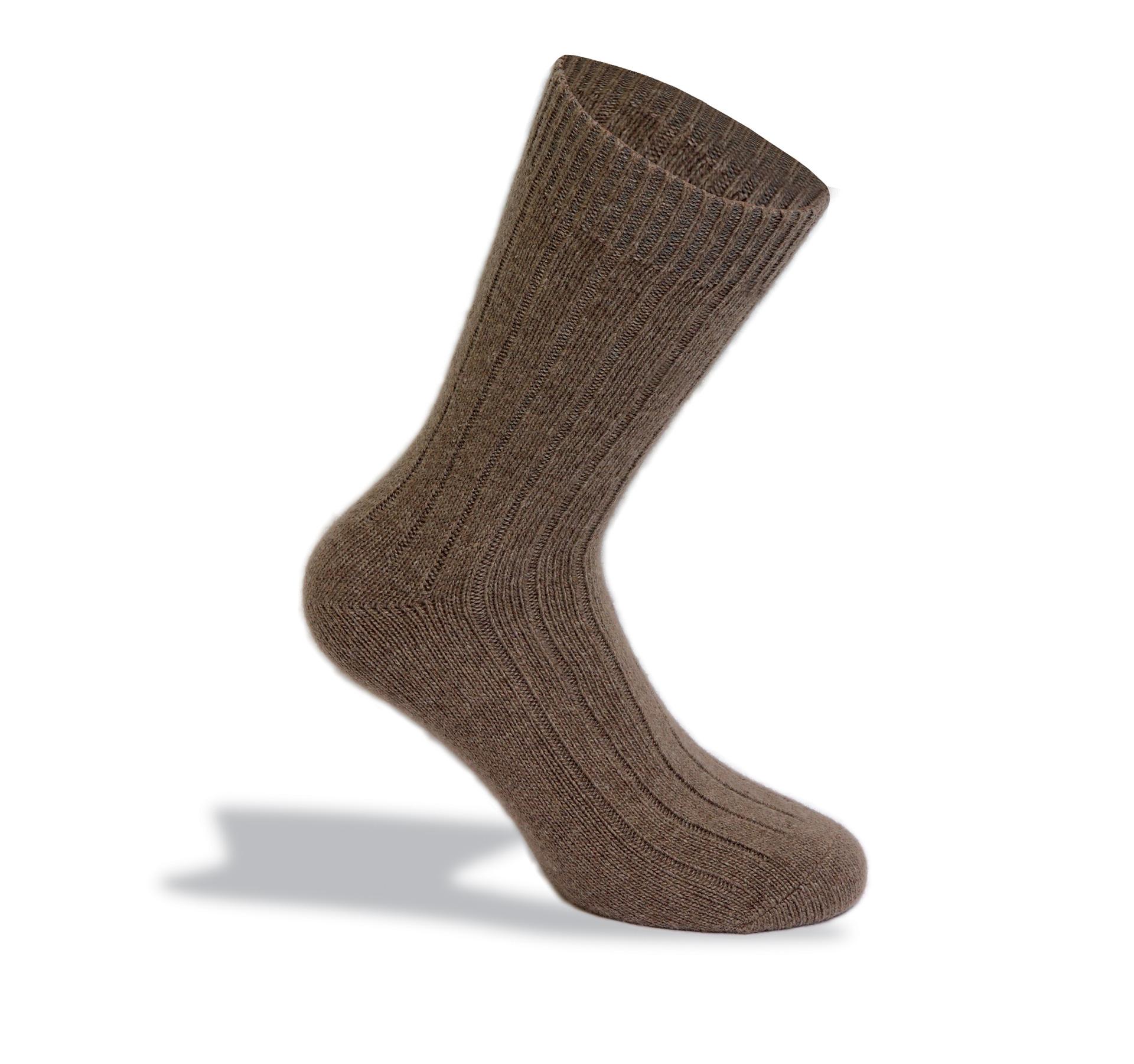 calza da uomo in fibre naturali