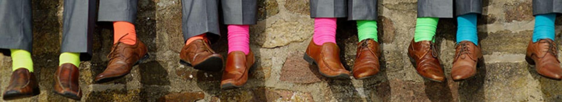 produzione calze uomo polsino inglese